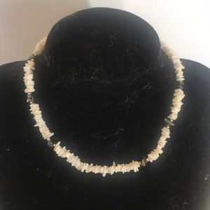 """""""VINTAGE PUKA"""" Seashell and Beads Necklace."""